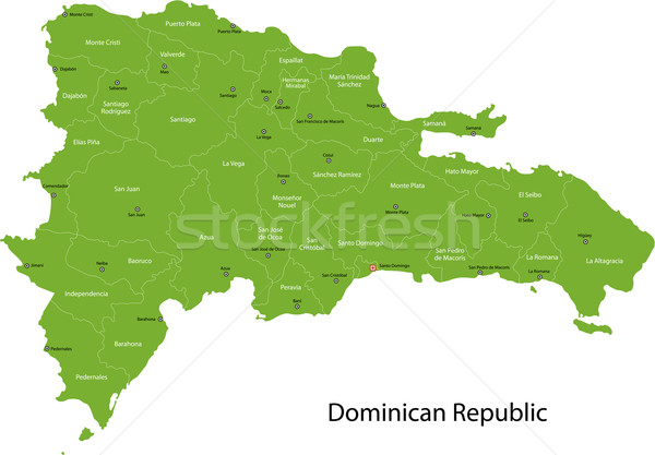 Dominican Republic map Stock photo © Volina