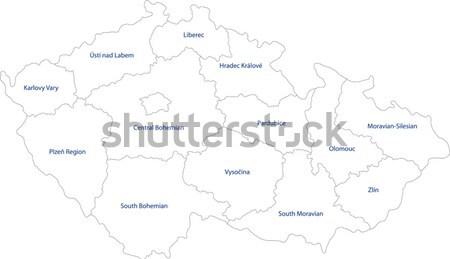 серый Чешская республика карта цвета белый Сток-фото © Volina