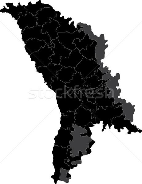 Black Moldova map Stock photo © Volina