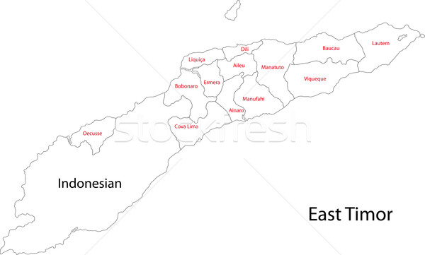 Contour East Timor map Stock photo © Volina