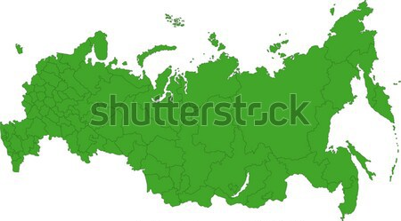 Green Russia map Stock photo © Volina