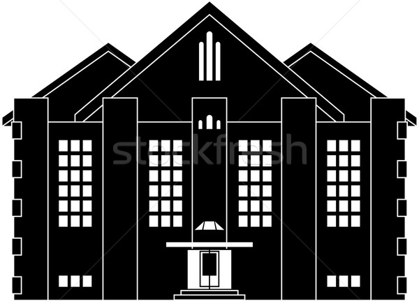 House in classical style Stock photo © Volina