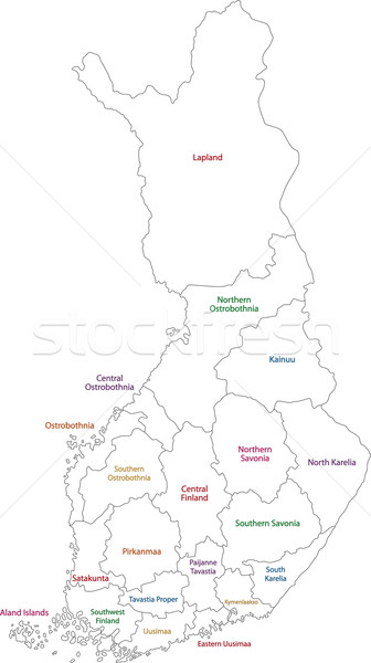 Contour Finland map Stock photo © Volina