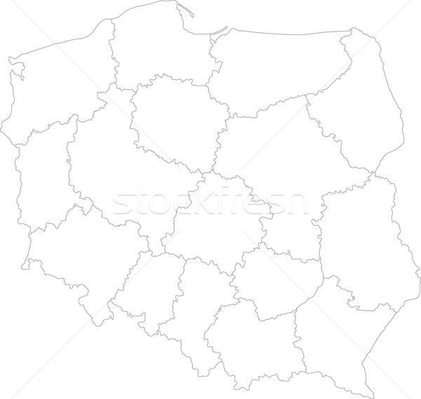 Outline Poland map Stock photo © Volina