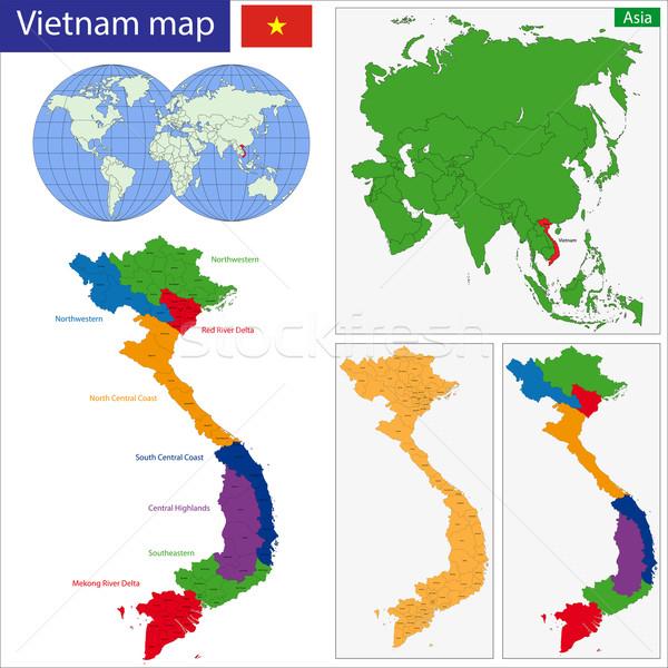 Vietnam map Stock photo © Volina