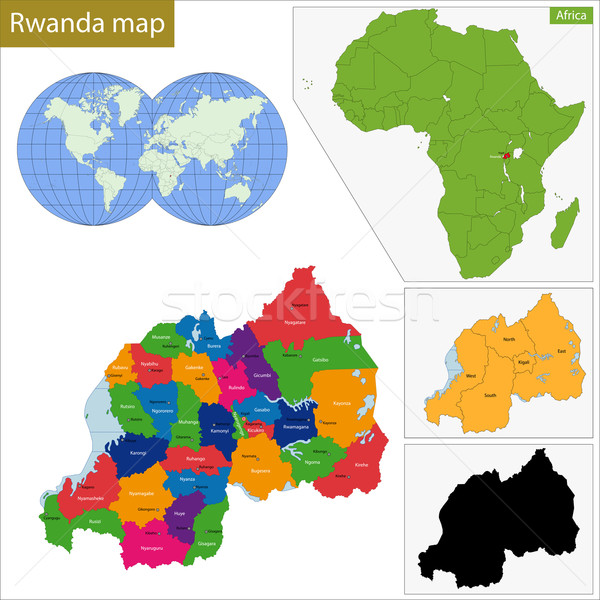Rwanda map Stock photo © Volina