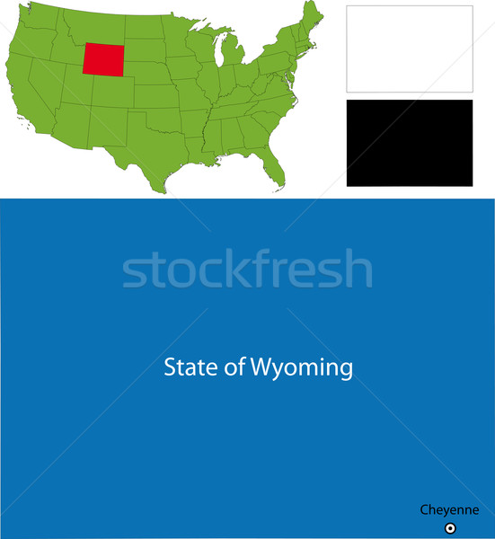 Wyoming map Stock photo © Volina
