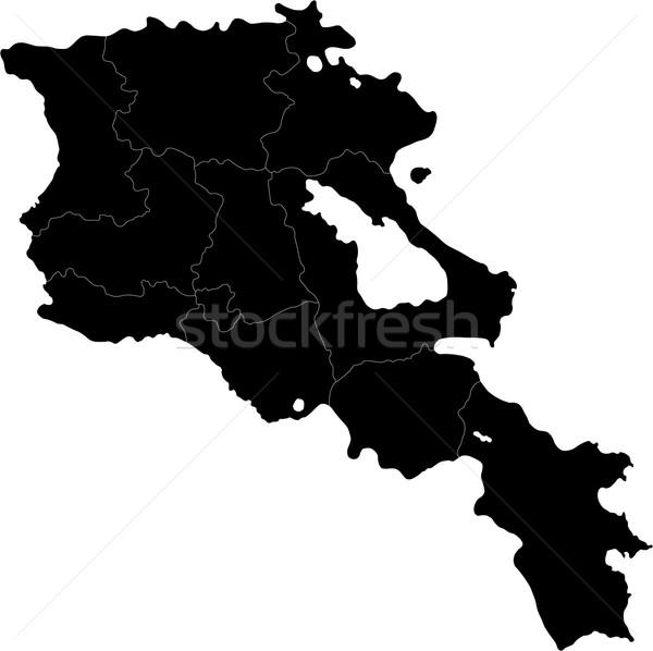 Black Armenia map Stock photo © Volina