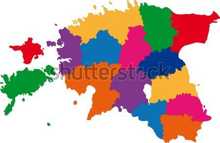 Colorido Iraque mapa administrativo cidade asiático Foto stock © Volina