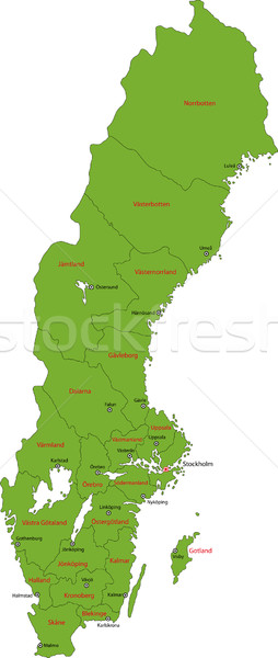 Green Sweden map Stock photo © Volina