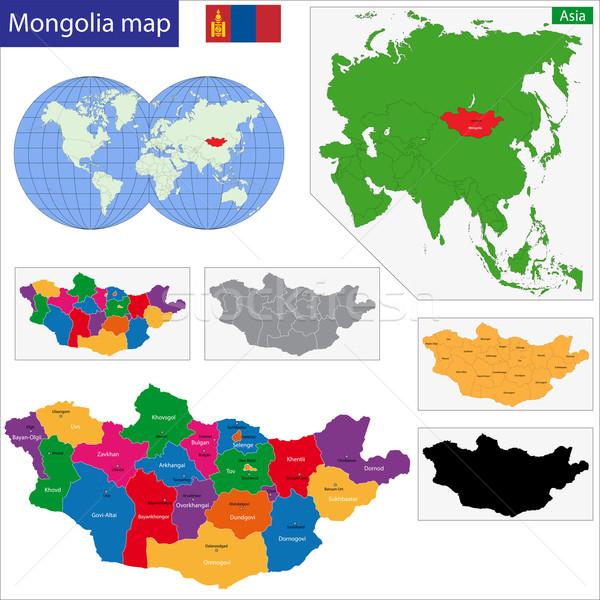 Stock photo: Mongolia map