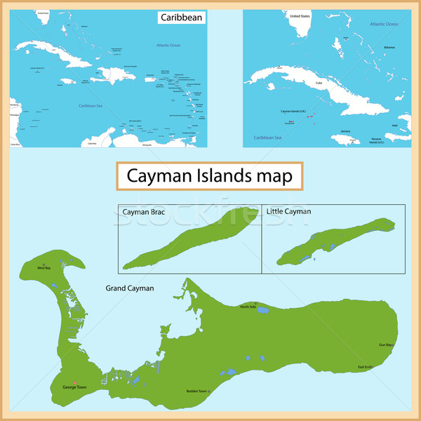 Cayman Islands map Stock photo © Volina