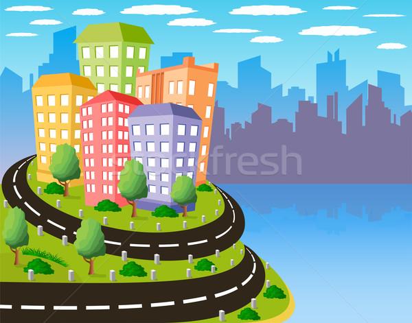 Colorful city Stock photo © Volina
