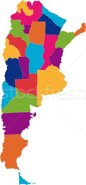 Argentina mapa administrativo projeto tecnologia fundo Foto stock © Volina