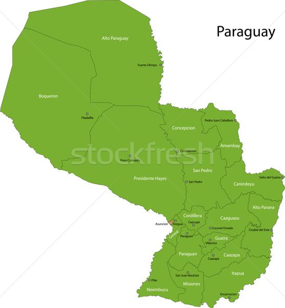 Zielone Paragwaj Pokaż administracyjny projektu kolor Zdjęcia stock © Volina