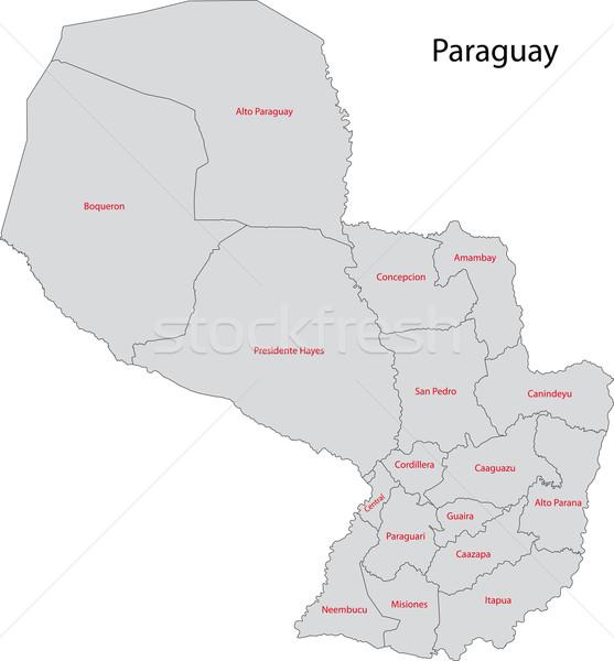 Szary Paragwaj Pokaż administracyjny miasta projektu Zdjęcia stock © Volina