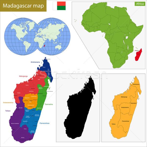 Madagascar carte administrative république pays africaine Photo stock © Volina