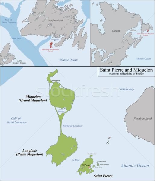 Saint Pierre and Miquelon map Stock photo © Volina