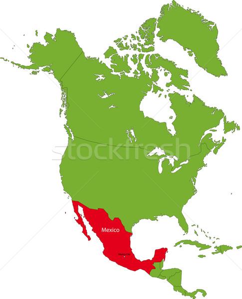 Zdjęcia stock: Lokalizacja · Meksyk · na · północ · Ameryki · kontynent · kolor