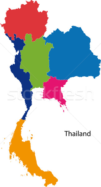 Colorful Thailand map Stock photo © Volina
