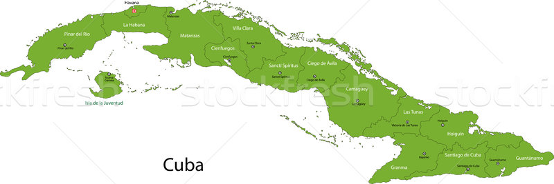 Map of Cuba Stock photo © Volina