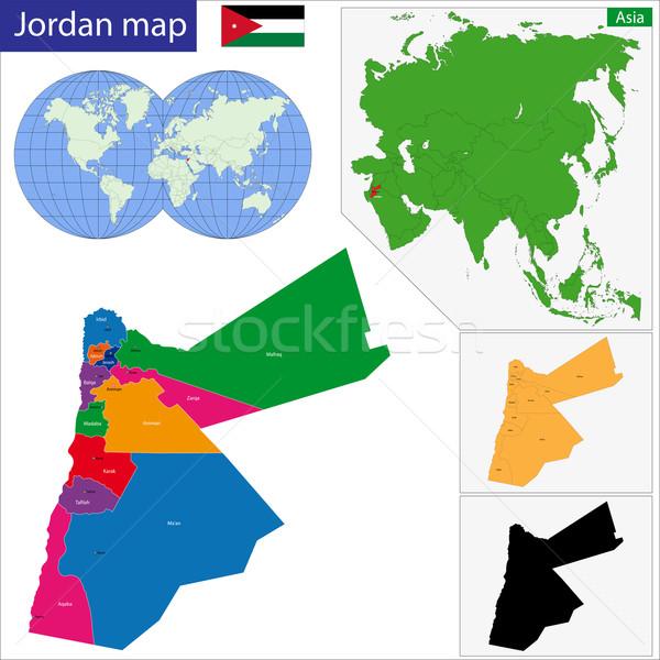 Jordania Pokaż administracyjny miasta projektu wykres Zdjęcia stock © Volina