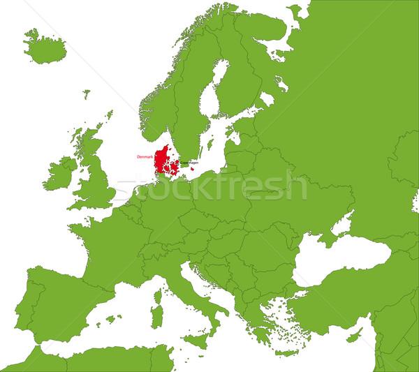 Danemark carte emplacement monde ville monde Photo stock © Volina