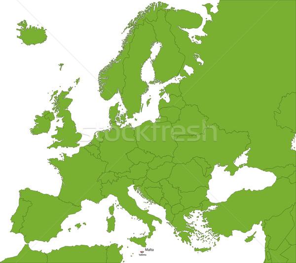 Malta map Stock photo © Volina