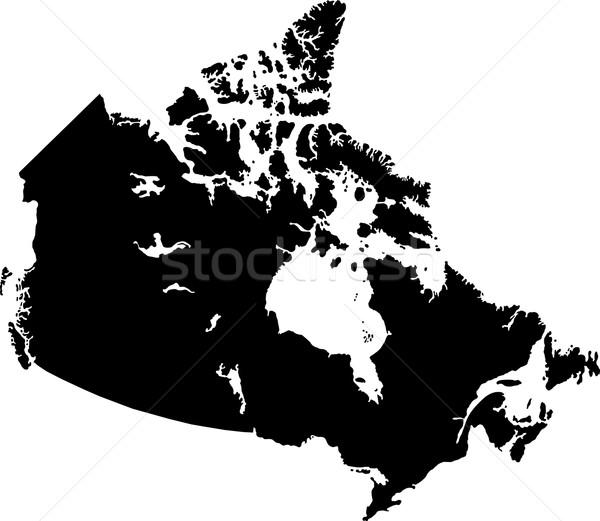 Black Canada map Stock photo © Volina