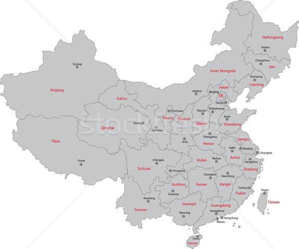 商业照片: 灰色 · 中国 · 地图 · 行政 · 首都 · 地球
