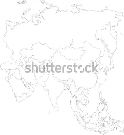 Contour Japan map Stock photo © Volina