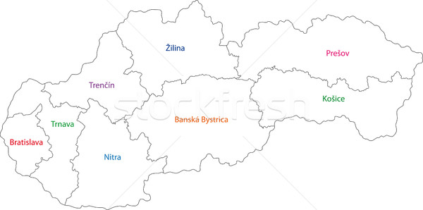 Outline Slovakia map Stock photo © Volina