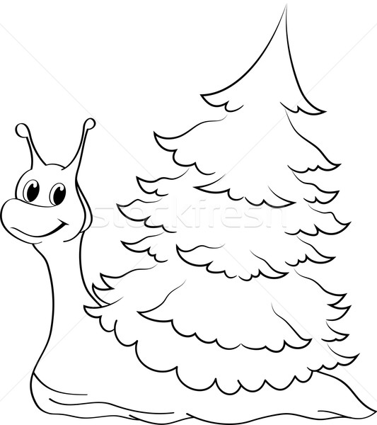 Cartoon Snail Stock photo © Volina