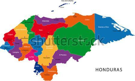 Turkmenistan mappa amministrativa città paese illustrazione Foto d'archivio © Volina