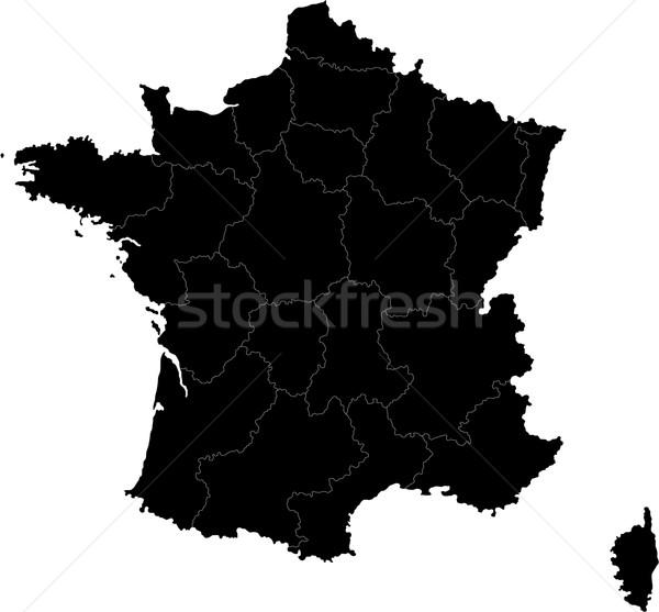 Black France map Stock photo © Volina