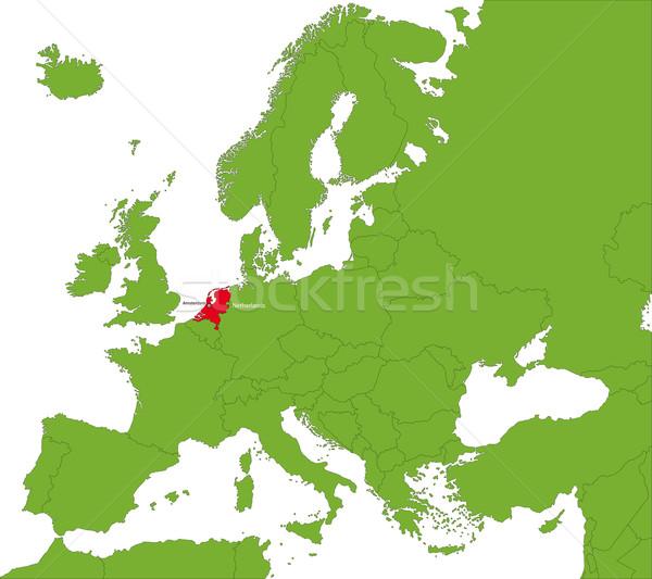 Paesi Bassi mappa posizione Europa continente città Foto d'archivio © Volina