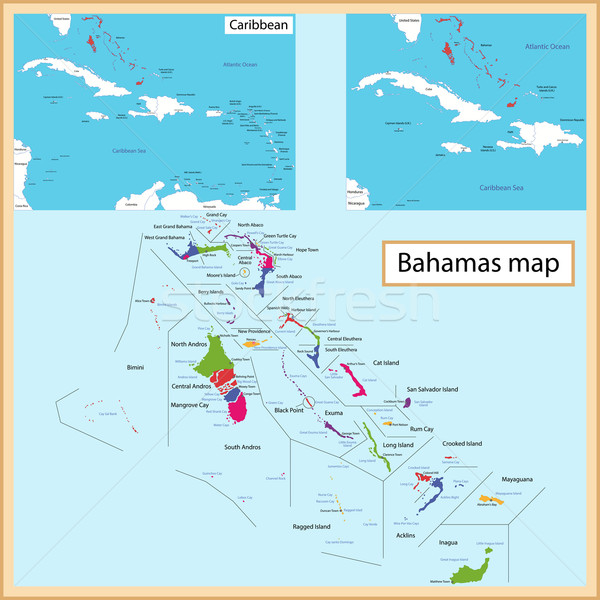The Bahamas map Stock photo © Volina