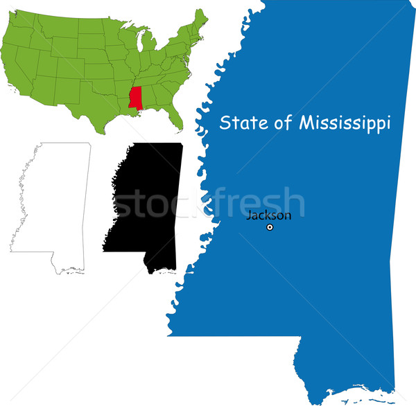 Mississippi map Stock photo © Volina