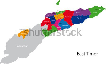 Colorful East Timor map Stock photo © Volina