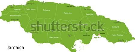 Green Austria map Stock photo © Volina