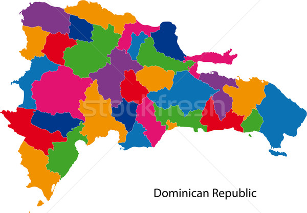 Mapa República Dominicana cidade cor branco terra Foto stock © Volina