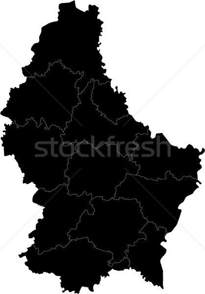 black Luxembourg map Stock photo © Volina