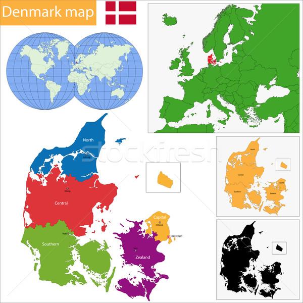 Denmark map Stock photo © Volina