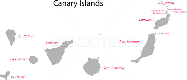 Canary Islands map Stock photo © Volina