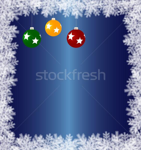 Blue winter background Stock photo © Volina