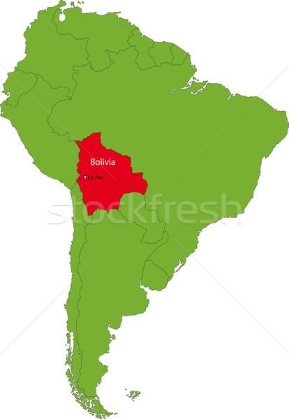 Bolívia térkép helyszín dél-amerika földrész terv Stock fotó © Volina