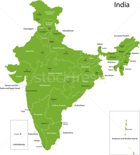 Green India map Stock photo © Volina