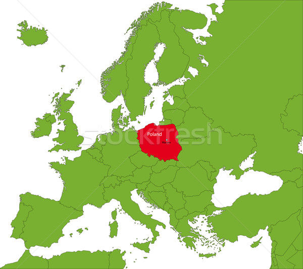 Poland map Stock photo © Volina
