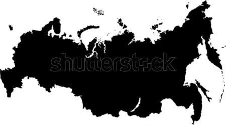 Black Russia map Stock photo © Volina