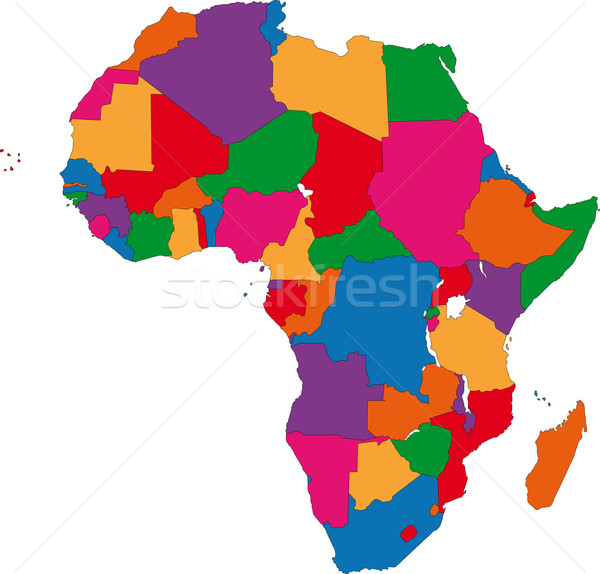 Colorful Africa map Stock photo © Volina